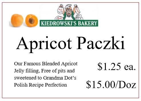 Apricot Paczki - Kiedrowski's Bakery