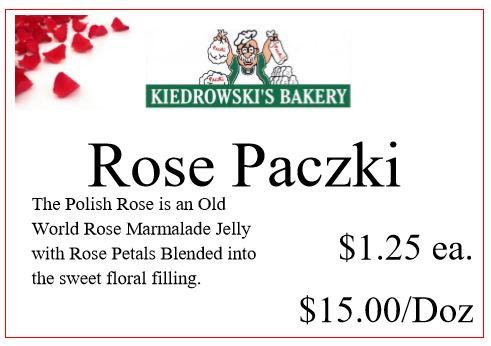 Rose Paczki - Kiedrowski's Bakery