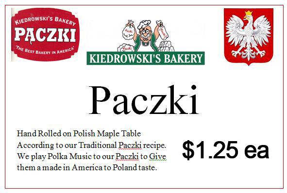 Paczki - Kiedrowski's Bakery