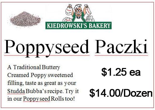 Poppyseed Paczki - Kiedrowski's Bakery